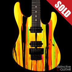 Suhr Modern 80s Shred Neon Drip Limited Run JST4N3M