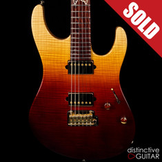 Suhr Modern Custom Distinctive Select #10 Desert Gradient 1pc Flame Maple