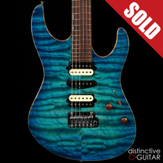 Suhr Modern Custom Distinctive Select #7 Aqua Blue Burst Mega Quilt