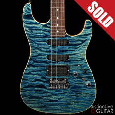 Tom Anderson Drop Drop Arctic Blue Quilt