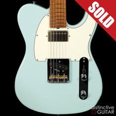 Suhr Classic T Antique Roasted Recovered Sinker Maple #5 Sonic Blue