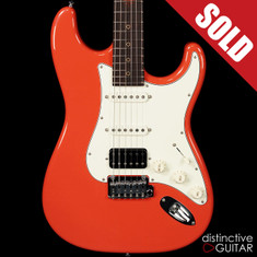 Suhr Classic Antique Roasted Recovered Sinker Maple #19 Fiesta Red