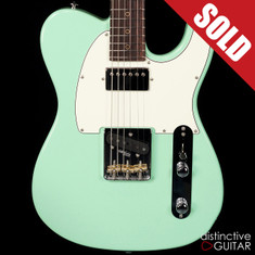Suhr Classic T Antique Roasted Recovered Sinker Maple #18 Surf Green
