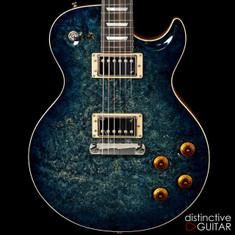 Fibenare Basic Jazz NAMM Singlecut Burl Tortoise Blue