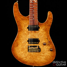 Suhr Custom Modern Distinctive Select #12 Black Limba / Cocobolo Waterfall Burl Natural Burst
