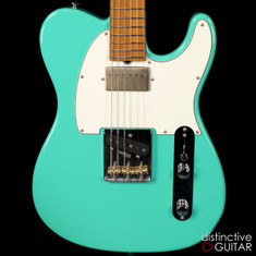 Suhr Classic T Antique Roasted Recovered Sinker Maple #7 Seafoam Green