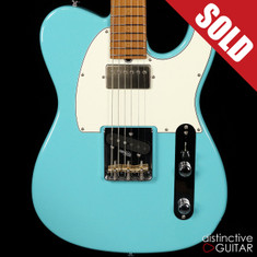 Suhr Classic T Antique Roasted Recovered Sinker Maple #6 Daphne Blue