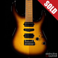 Suhr Modern Antique Guthrie Govan Roasted Recovered Sinker Maple #2 Tobacco Burst