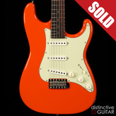 Suhr Classic Scott Henderson Antique Roasted Recovered Sinker Maple #1 Fiesta Orange