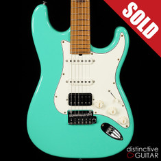 Suhr Classic Antique Roasted Recovered Sinker Maple #7 Seafoam