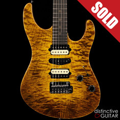 Suhr Custom Modern Rare Angel Quilt Maple Top Black & Gold JS6A0X