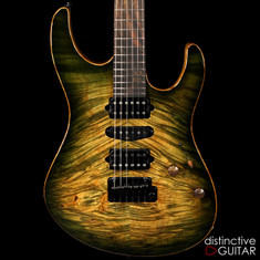 Suhr Custom Modern Faded Trans Green Burst JS2X1H