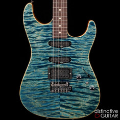 Tom Anderson Drop Top Arctic Blue Quilt Maple Top 04-12-17N