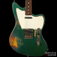 Rock N Roll Relics Jazz Bastard Ocean Turquoise Over 3-Tone Sunburst