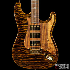Suhr Classic Custom Black Gold Quilt Maple Top JS1H1L