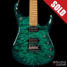 Ernie Ball Music Man JP15 John Petrucci Signature Quilted Teal Burst
