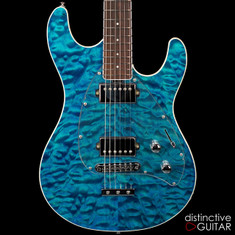 Ernie Ball Music Man Steve Morse Tahitian Blue Quilt Top BFR
