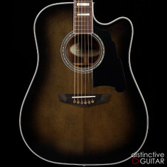 D'Angelico Excel Bowery Dreadnought Grey Black