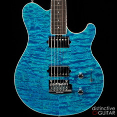 Ernie Ball Music Man Axis Super Sport BFR #21-Aqua Blue Quilt