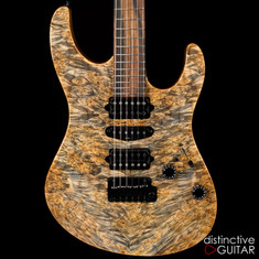 Suhr Modern Custom Trans Blue Denim Waterfall Burl Maple JS5P3Z