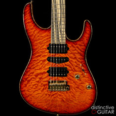 Suhr Modern Carve Top Custom Select NAMM Lava Red Burst Quilt JS2L1K