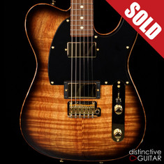 Tom Anderson Drop T Classic Shorty Koa Black Shaded Edge