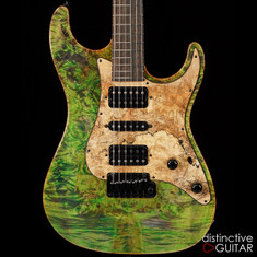 Suhr Standard Custom Waterfall Burl Maple Top Trans Green Blue Algae JS1W1L