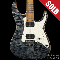 Tom Anderson Guardian Angel Satin Atlantic Storm Quilt Top