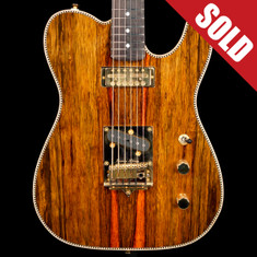 Red Rocket Red Rocket Atomic Telecaster Exotic Black Limba *SOLD*