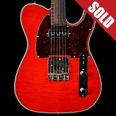 Red Rocket Custom Flame Top Telecaster Tangerine *SOLD*