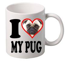 I Love My Pug coffee mugs gift
