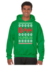 Bah Humbug Christmas men Hooded Sweatshirt