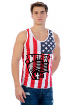 Happy 4th of july MEN TANK top US FLAG