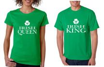 Couple T Shirt Irish Queen Irish King St Patrick's Party Shirt Set
