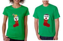 Couple T Shirt Naughty And Nice Xmas Loved One Gift Holiday Shirt
