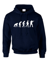 Adult Hoodie Hunting Evolution Funny Hunting Sweatshirt