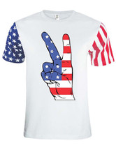 Adult Stars And Strips T Shirt American Hand USA Flag 4th July