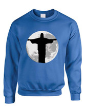 Adult Crewneck Sweatshirt Moon Jesus Love Jesus Top