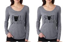 Set Of 2 Women's Shirts Tall Short Best Friend Coffee Matching