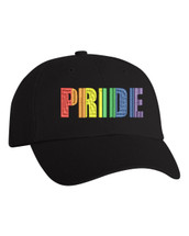 Adult Hat Pride Rainbow Colors Embroidered Hat Gay Love Cap