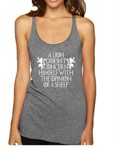 Women's Tank Top Lion Doesn't Concern Himself With Opinion Sheep