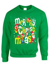 Adult Sweatshirt Merry Christmas Party Fireworks Ugly Xmas Gift