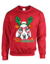Adult Sweatshirt I Am On Santa's Naughty List Xmas Tee Dog Lover