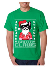 Men's T Shirt Santa Claws Cat Ugly Xmas Cute Cats Lover Gift