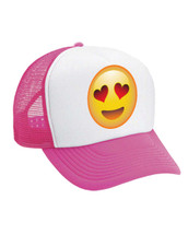 Emoji Smiley Heart Valucap Foam Trucker Cap