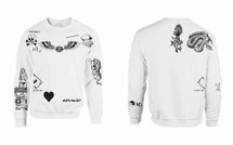 zayn malik body Tattoo Sweatshirt One Direction