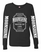 Moonshine (white) Ladies' French Terry Slouchy Pullover Women Long Sleeve Shirt