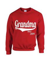 Women Sweatshirt Grandma Since 2014 Gift
