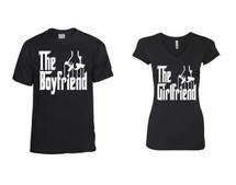 The boyfriend t shirt The girlfriend Sporty Tee couples gift shirts