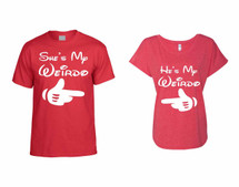 He is my Weirdo  t shirt  She is my Weirdo Ladies Triblend Dolman couples gift shirts